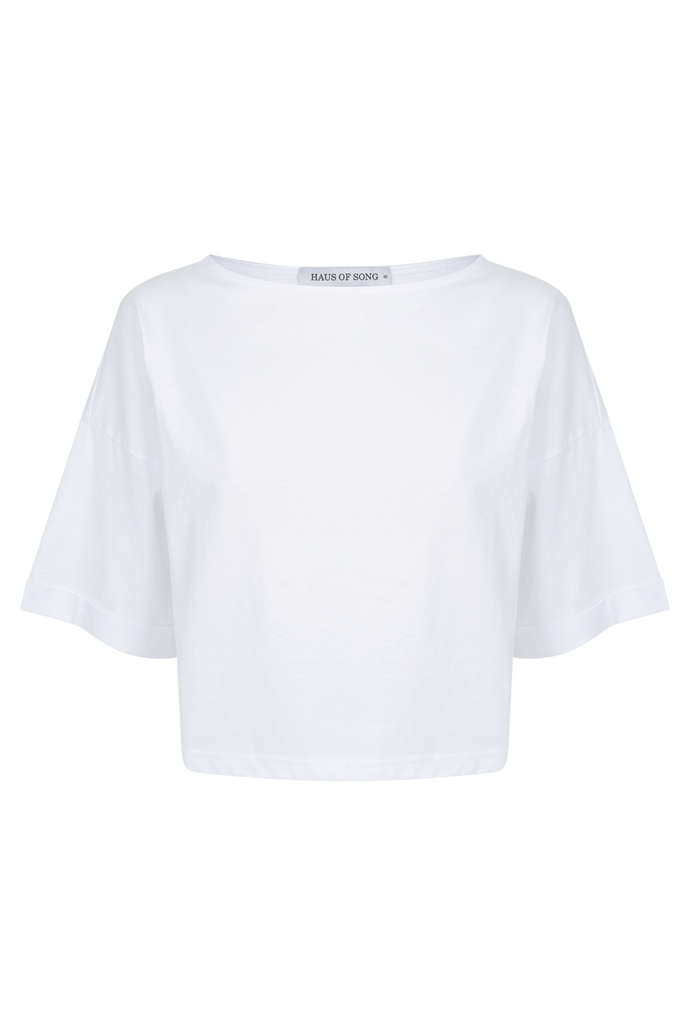 The HS Cropped Tee - WHT | HAUS OF SONG