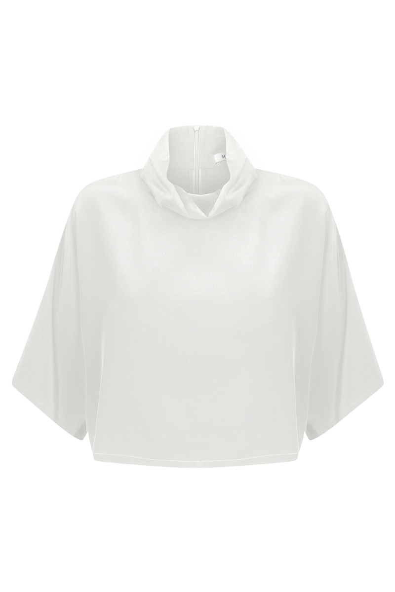 FLORE Silk Crêpe De Chine Top | HAUS OF SONG