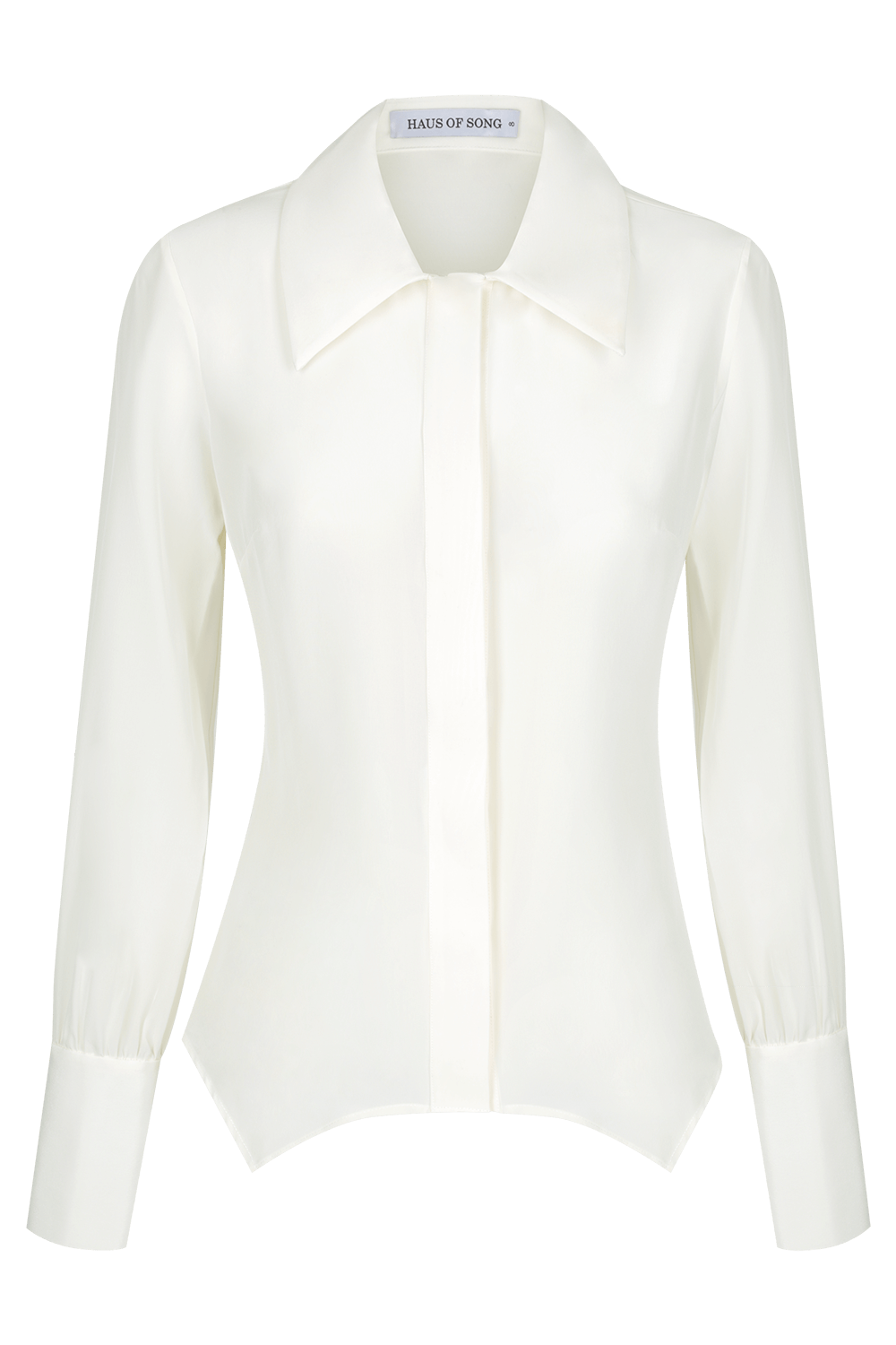JANEL Silk Crêpe De Chine Shirt - IVORY - HAUS OF SONG