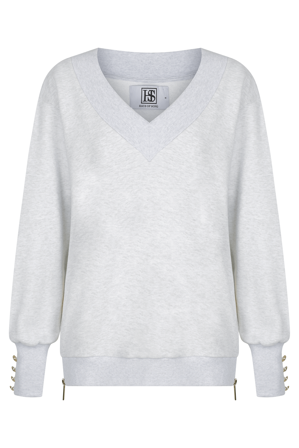 OPEN SIGHT Sweatshirt - GRY/GLD | HAUS OF SONG