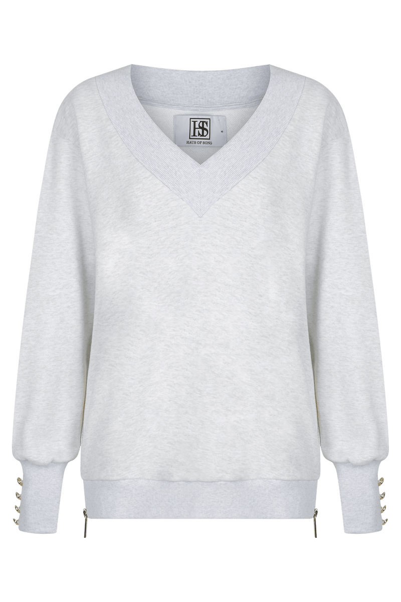 OPEN SIGHT Sweatshirt - GRY/GLD - HAUS OF SONG