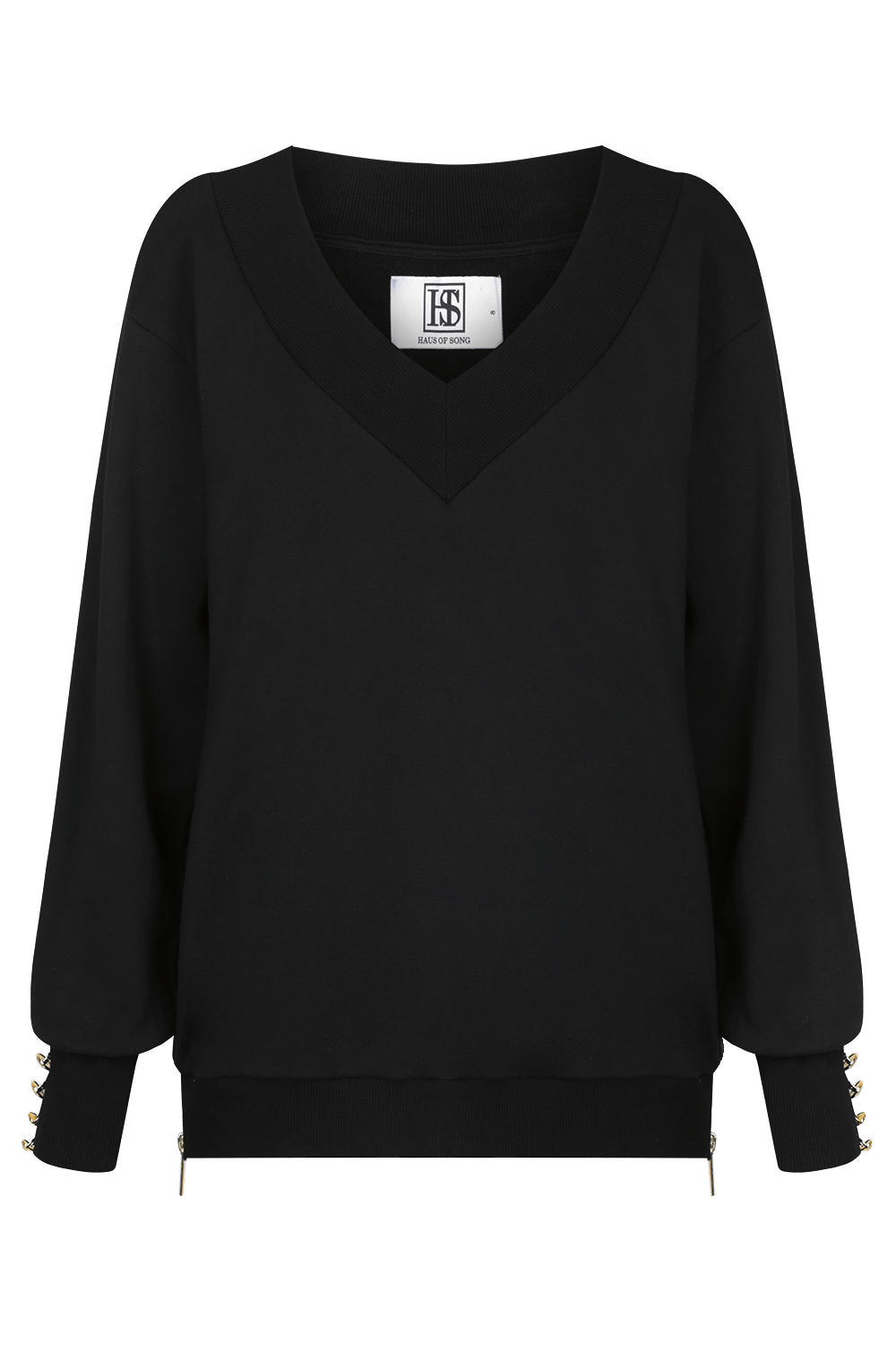OPEN SIGHT Sweatshirt - BLK/GLD | HAUS OF SONG