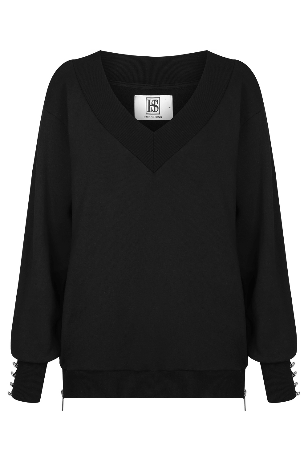 OPEN SIGHT Sweatshirt - BLK/PLTNM | HAUS OF SONG