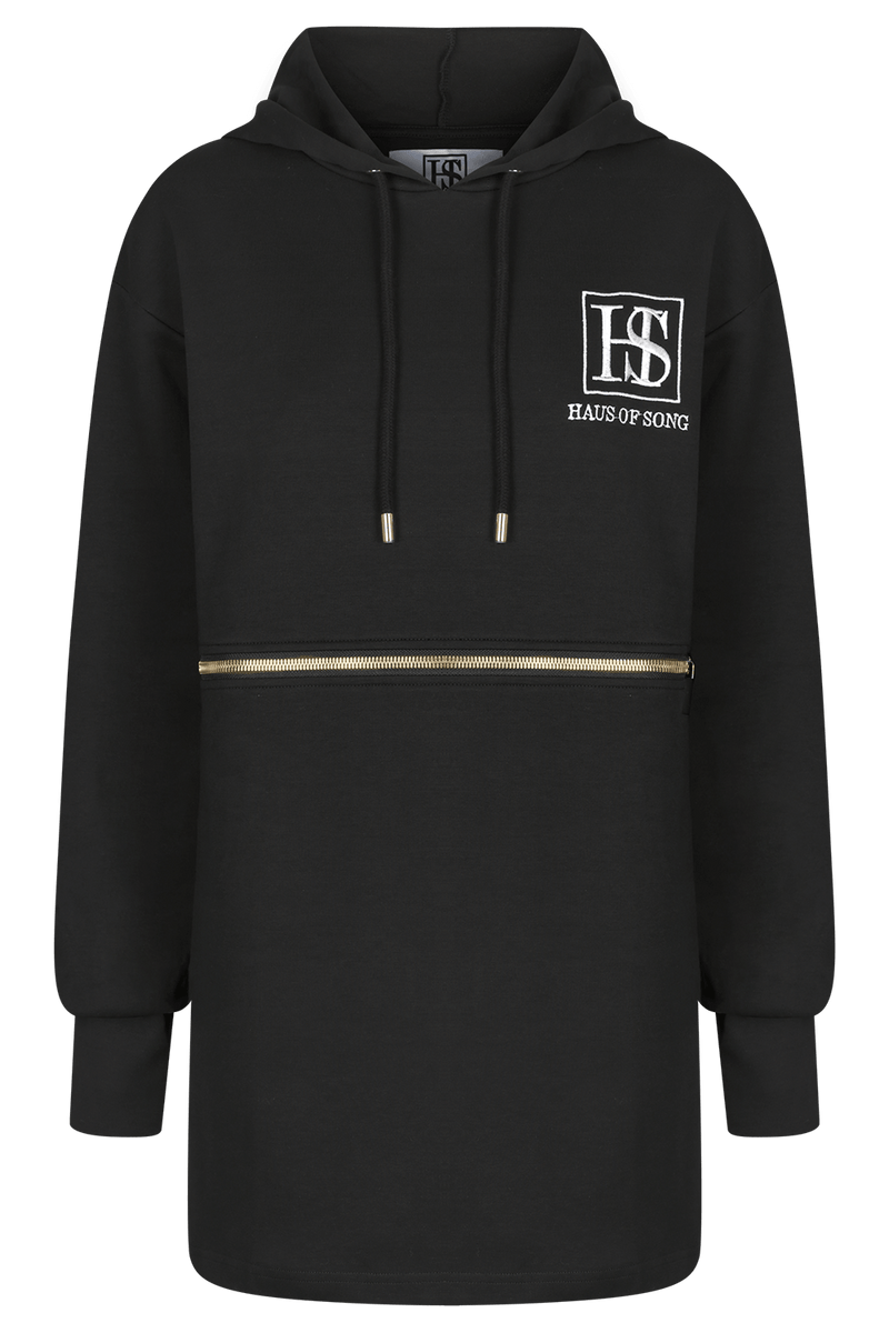 I AM HERE Hooded Dress | HAUS OF SONG