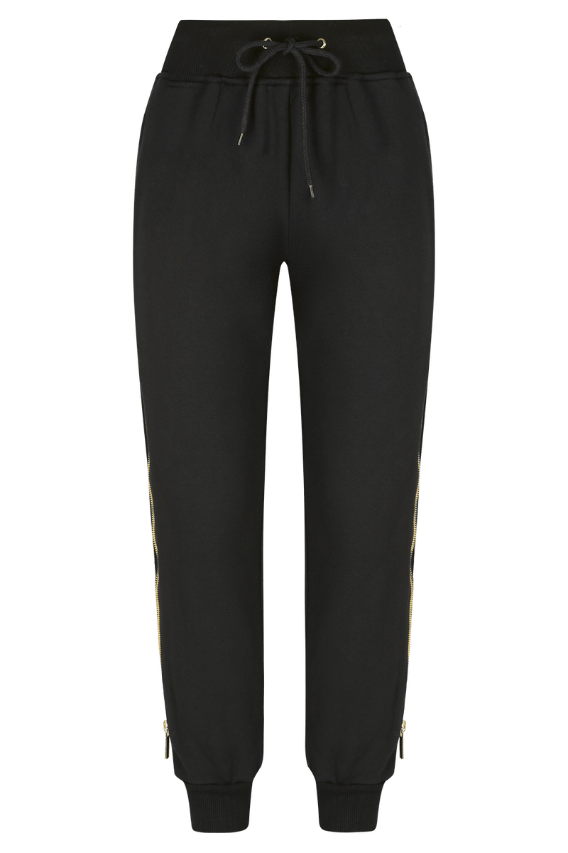 SLIDE AWAY Jogger Pants- BLK/GLD | HAUS OF SONG