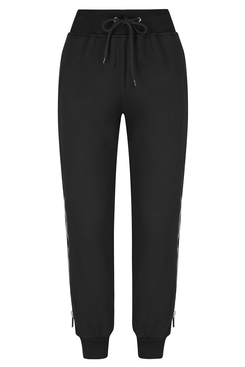 SLIDE AWAY Jogger Pants - BLK/PLTNM - HAUS OF SONG