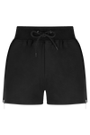 HATE ME Shorts - BLK/PLTNM - HAUS OF SONG