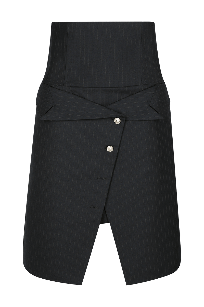 ERIN Pinstriped Tailored Skirt - HAUS OF SONG