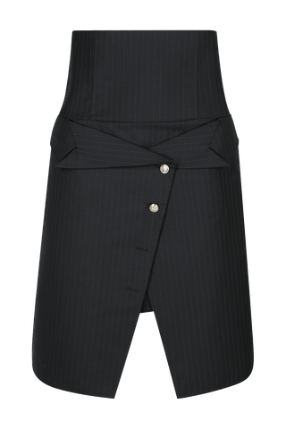AUDREY Pinstriped Wide Leg Trouser
