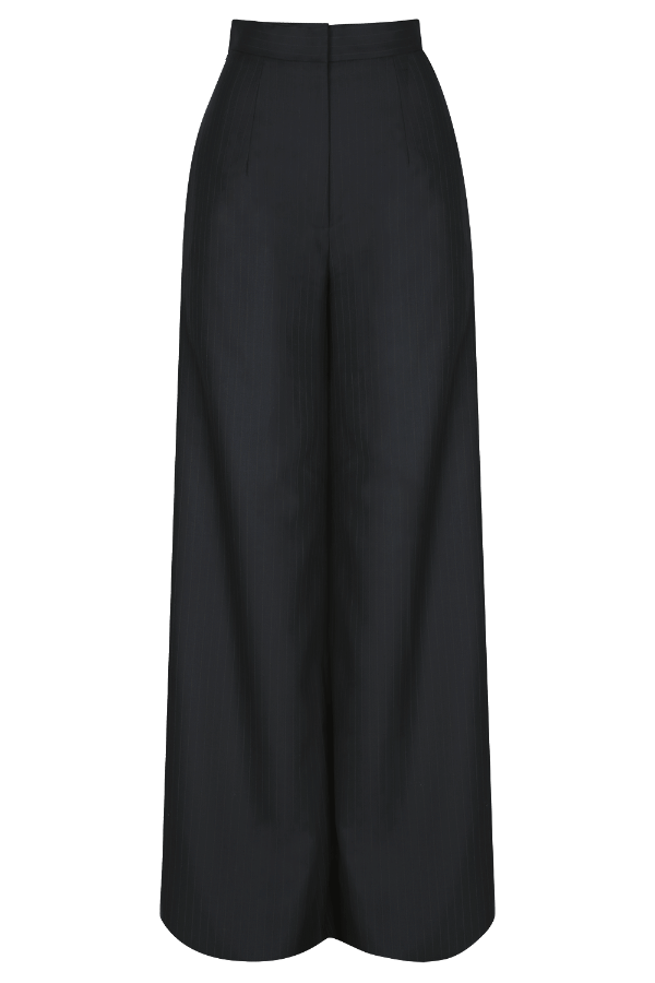 AUDREY Pinstriped Wide Leg Trouser | HAUS OF SONG