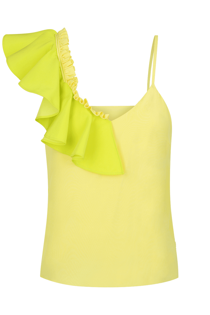 POMME Asymmetrical Silk Cami Top - HAUS OF SONG