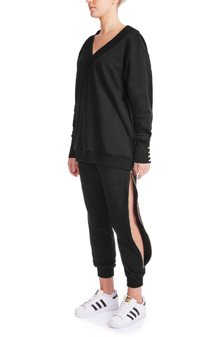 KRYSTALLE Statement Sweatshirt - BLK