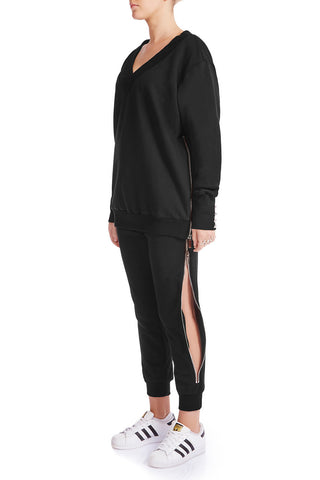 KRYSTALLE Statement Sweatshirt - GRY