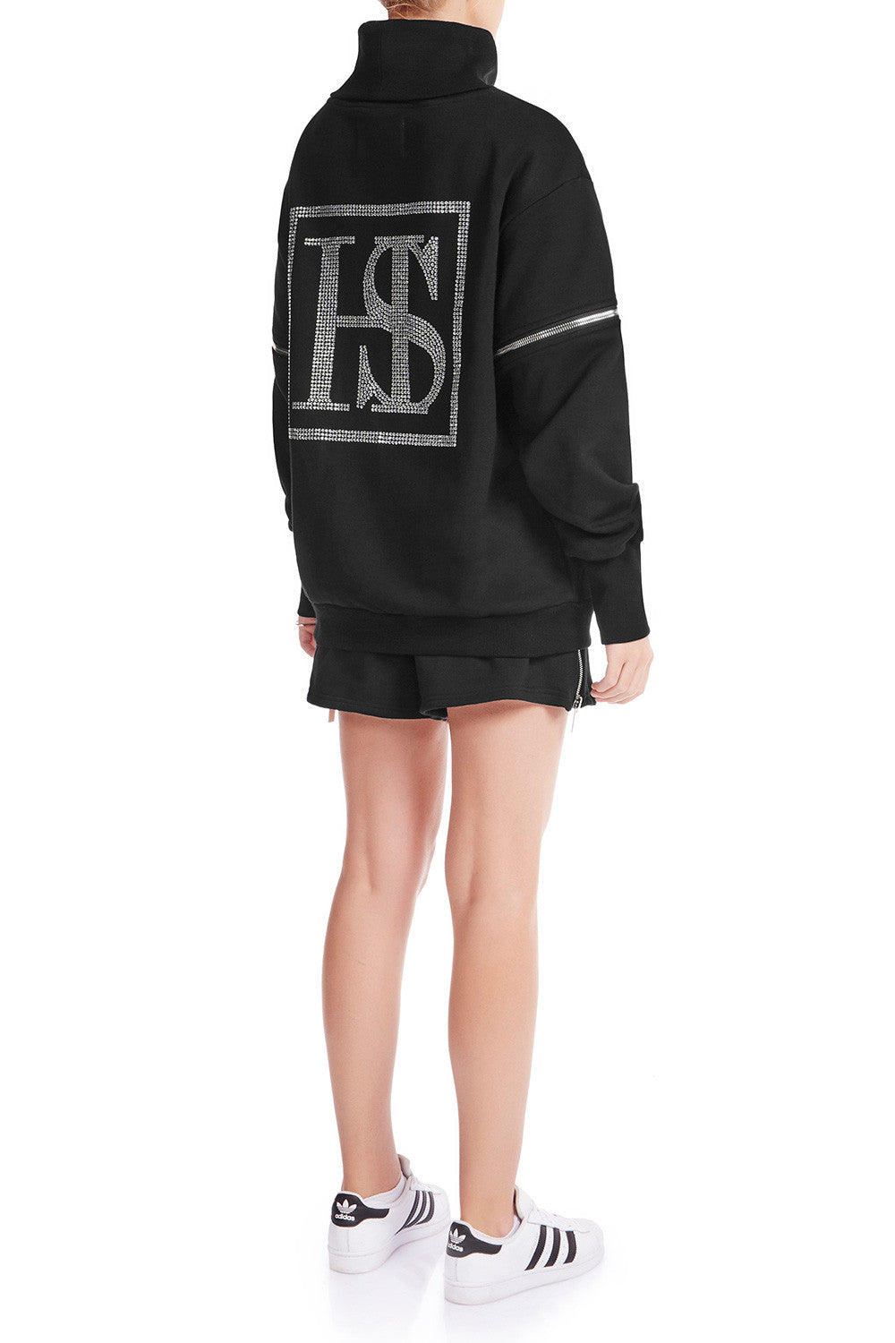 KRYSTALLE Statement Sweatshirt - BLK - HAUS OF SONG