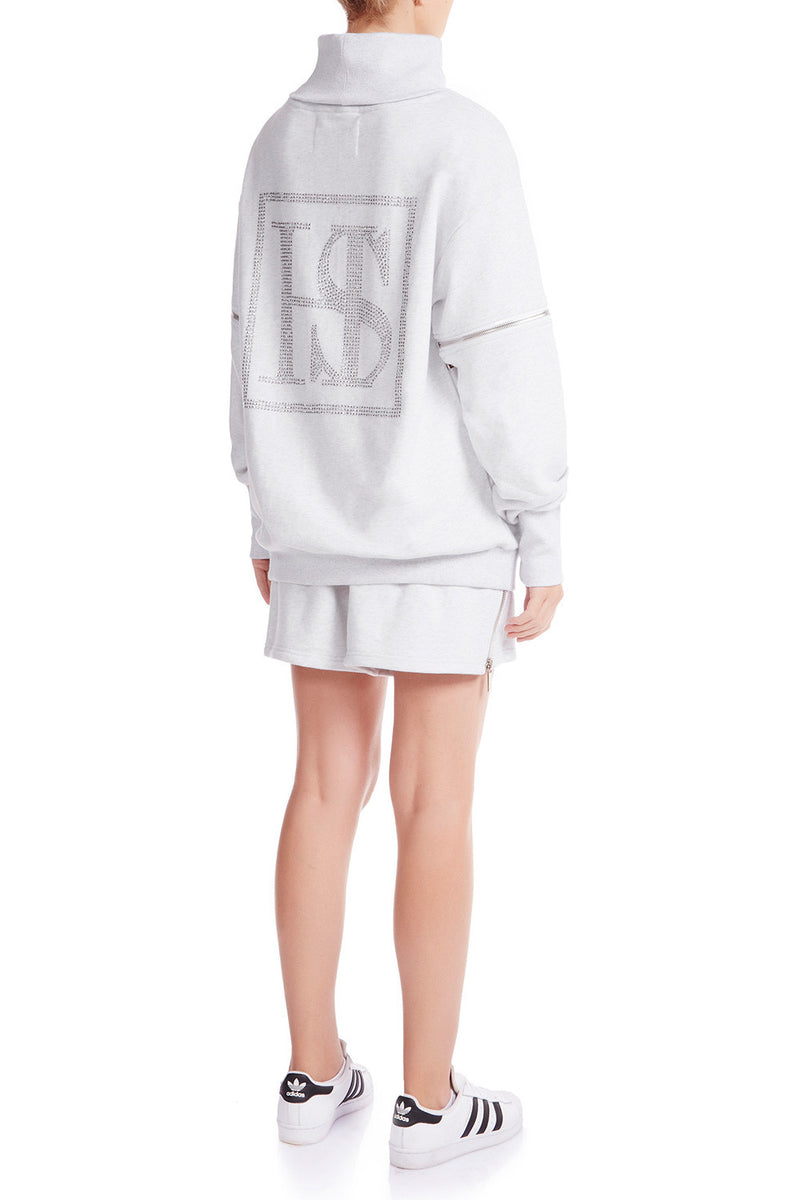 KRYSTALLE Statement Sweatshirt - GRY | HAUS OF SONG
