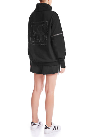 OPEN SIGHT Sweatshirt - BLK/PLTNM
