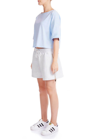 The HS Cropped Tee - SOFT BLUE