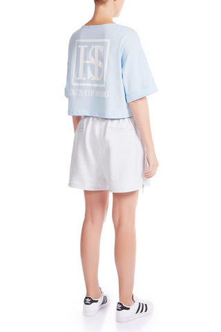 The HS Cropped Tee - SOFT BLUE - HAUS OF SONG