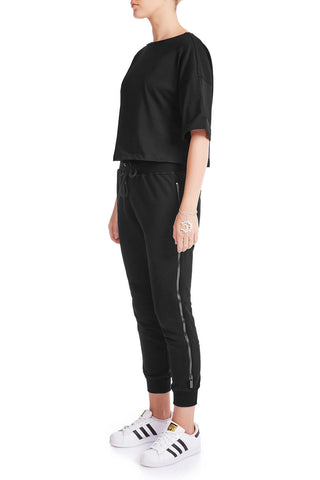 The HS Cropped Tee - BLK