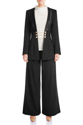 VICTORIA Wool Statement Blazer - HAUS OF SONG
