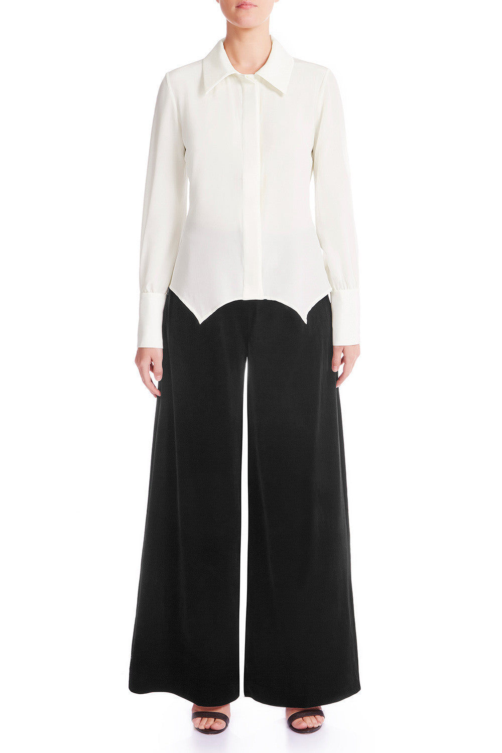 JANEL Silk Crêpe De Chine Shirt - IVORY | HAUS OF SONG
