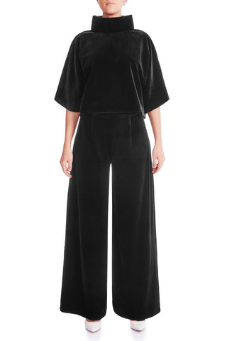 KARMEN Velvet Wide Leg Trouser - HAUS OF SONG