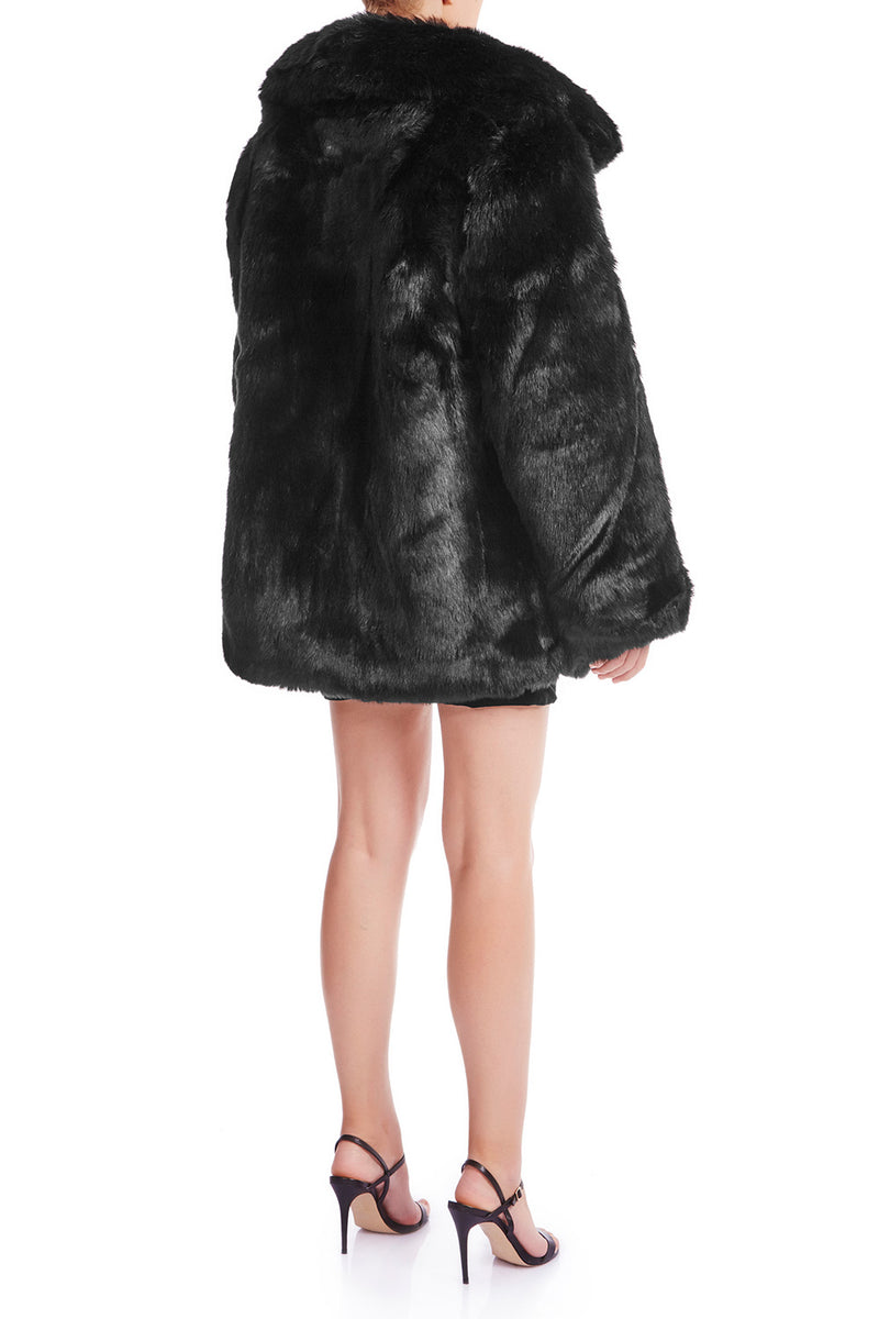 SKYE Oversized Faux Fur Coat | HAUS OF SONG