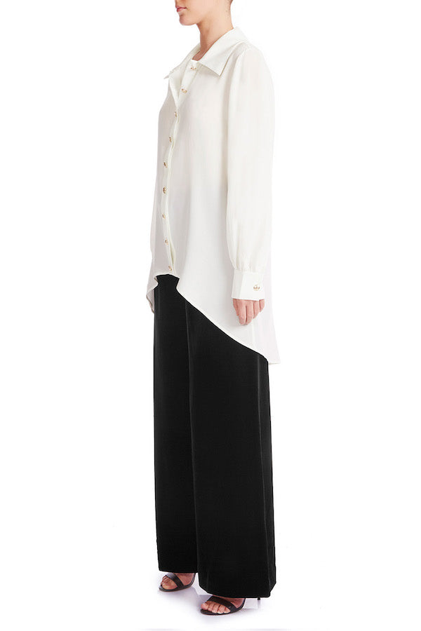 CLASSY Silk Crêpe De Chine Shirt | HAUS OF SONG