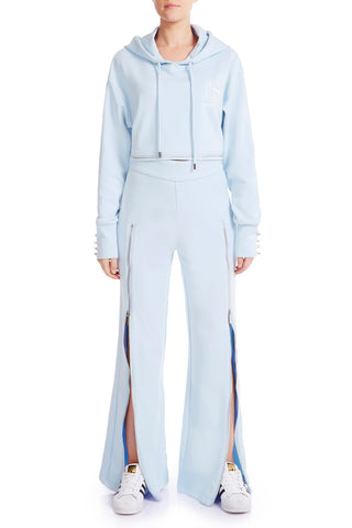 ZIP ME UP Track Pants - SOFT BLUE - HAUS OF SONG