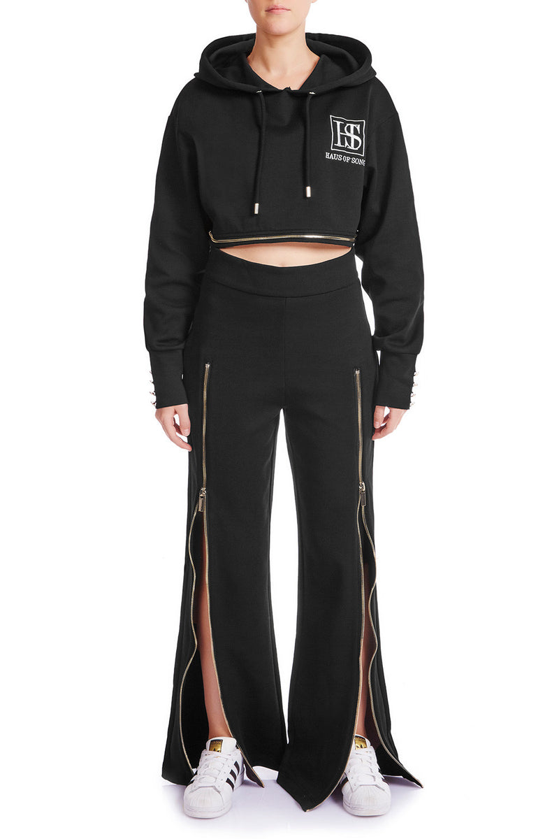 ZIP ME UP Track Pant - BLK | HAUS OF SONG