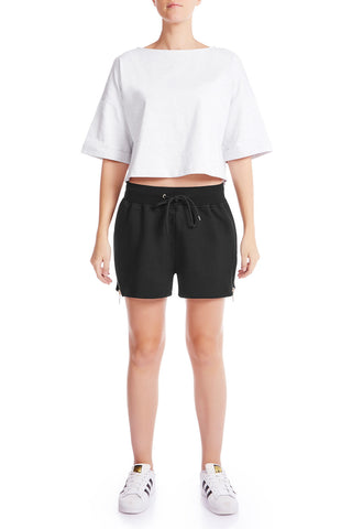 The HS Cropped Tee - GRY - HAUS OF SONG
