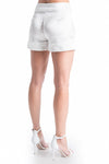 OLIVIA Lace Satin Shorts - NATURAL WHT | SAMPLE | HAUS OF SONG