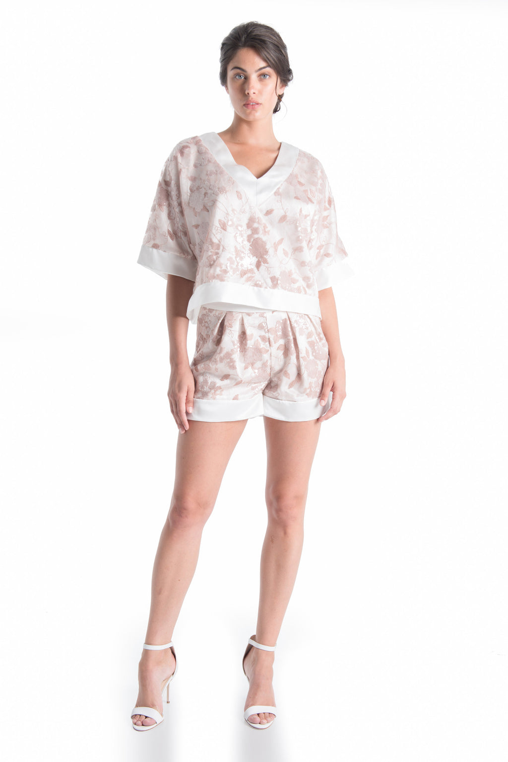 FLEUR Oversized Silk Top - ROMANTIC DUSTY | SAMPLE - HAUS OF SONG