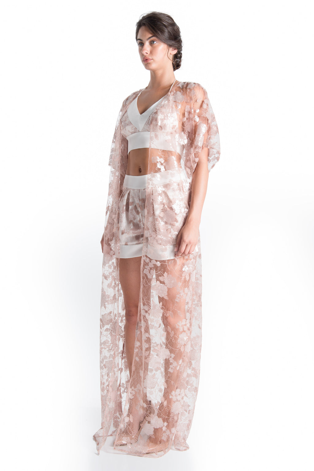 VENETIAN Lace Kimono - ROMANTIC DUSTY | SAMPLE | HAUS OF SONG