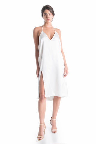 CASANDRA Silk Midi Slip Dress | HAUS OF SONG