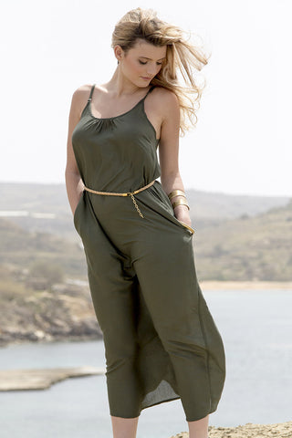 Strappy Maxi Dress Khaki