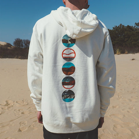 Cape Clasp - Tides - Limited Edition - Earth Day Hoodie - White Sweatshirt