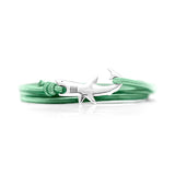 Great White Bracelet Silver Green