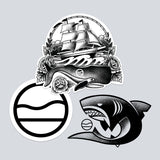 Cape Clasp - Tattoo Sticker Pack - Temporary Stickers - Supports Marine Life Non-Profits