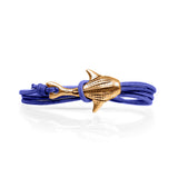 Cape Clasp Bronze Whale Shark Purple