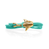 Cape Clasp Bronze Whale Shark Teal Surf