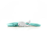 Whale Bracelet Silver Teal