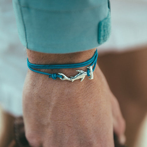 Original adjustable Cape Clasp Hammerhead shark bracelet, made on Cape Cod. 15% profits donated to the Nakawe Project.