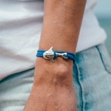 Cape Clasp Silver Whale Shark Blue Bay