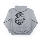 grey manta ray sweatshirt with black print from cape clasp