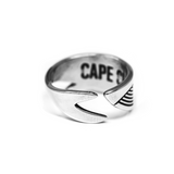 Cape Clasp Silver Whale Ring