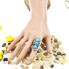 FREE - Awesome  Antique Turquoise Ring (adjustable) - HippieRoad - 1