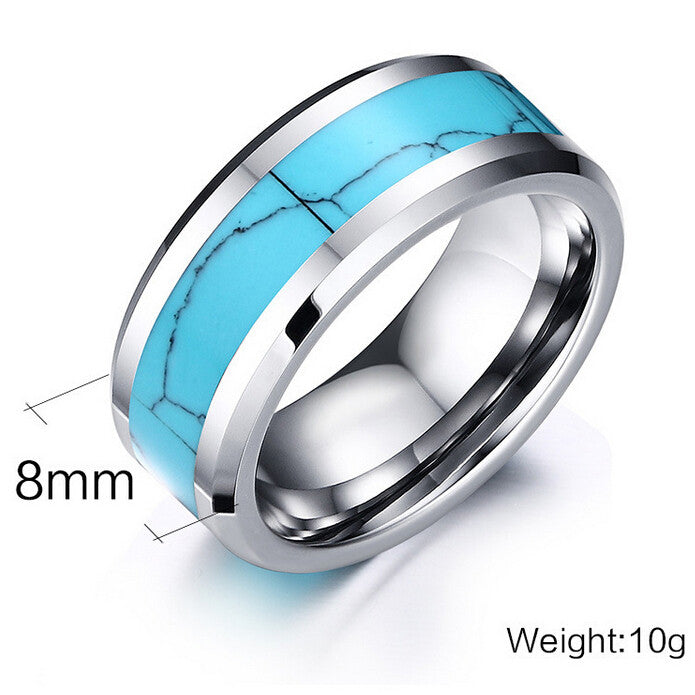 Awesome Brand New Tungsten Carbide Turquoise Hippie Chic Ring - HippieRoad - 3