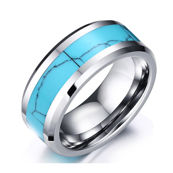 Awesome Brand New Tungsten Carbide Turquoise Hippie Chic Ring - HippieRoad - 1