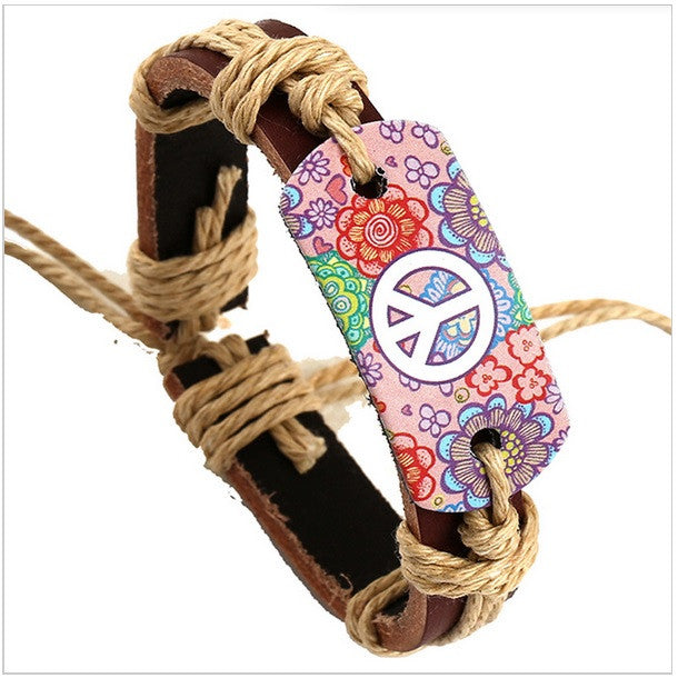 FREE - Hippie Leather Bracelet Hand Made - HippieRoad - 2